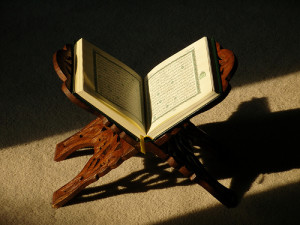 Qur'an on stand
