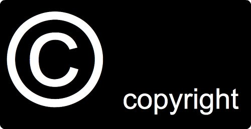 copyright image text
