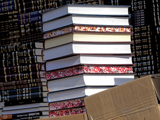 Stack of printed books. Youthly Hub Post on getting published