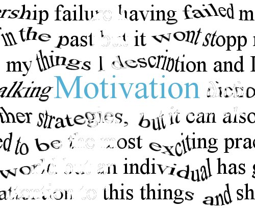 Distorted text on motivation