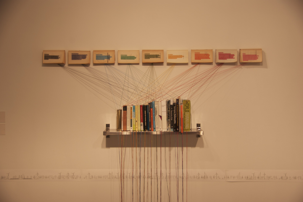 A creative book shelf idea