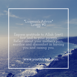 Advice of Luqman - Lesson 2. YouthlyHub.com