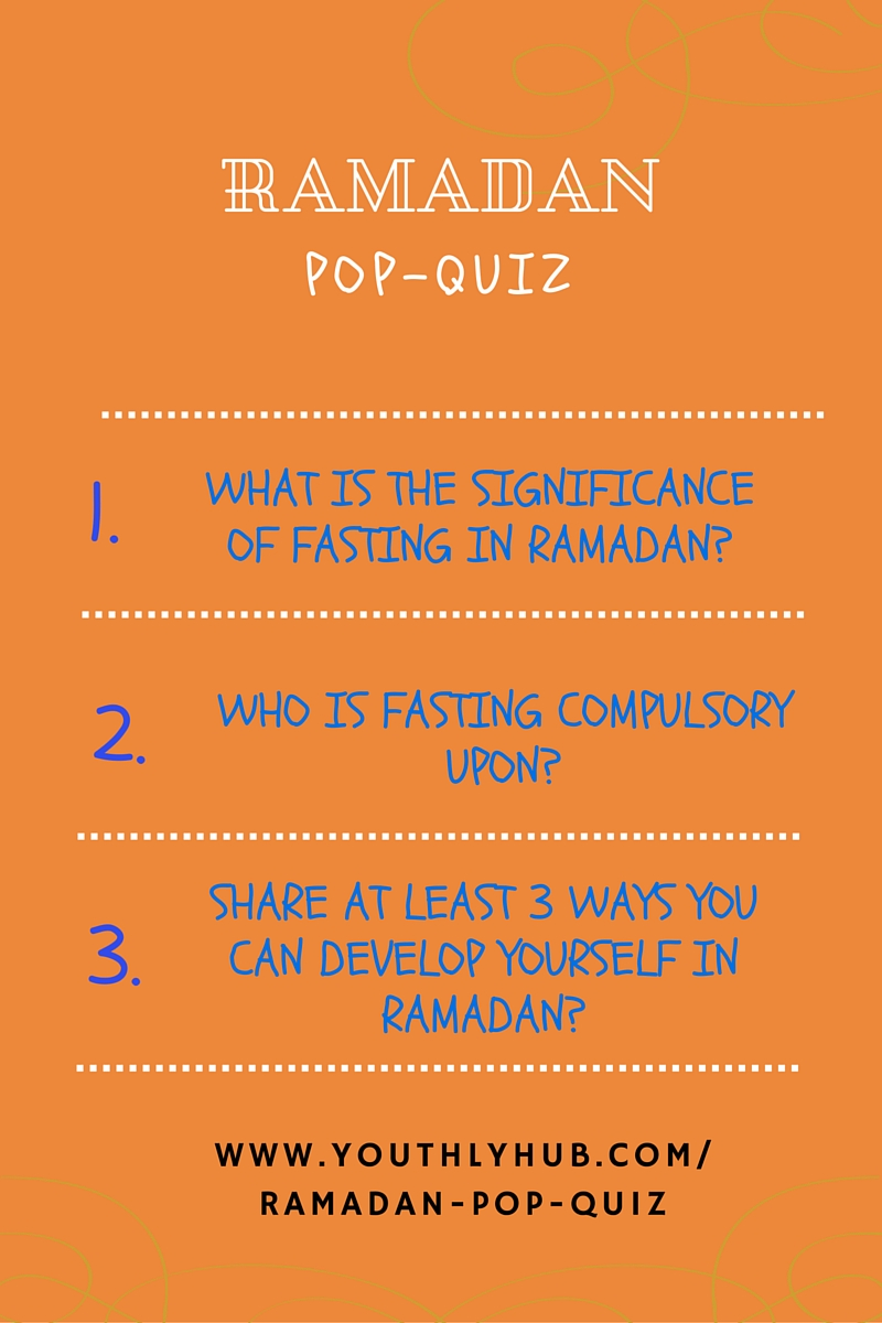 YouthlyHub.com poster on Ramadan Pop Quiz