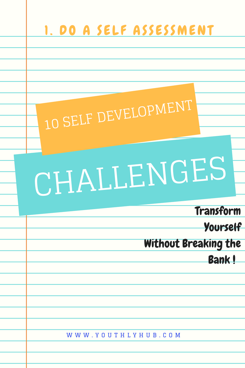 do a self assessment poster on ten self development post on youthlyhub.com