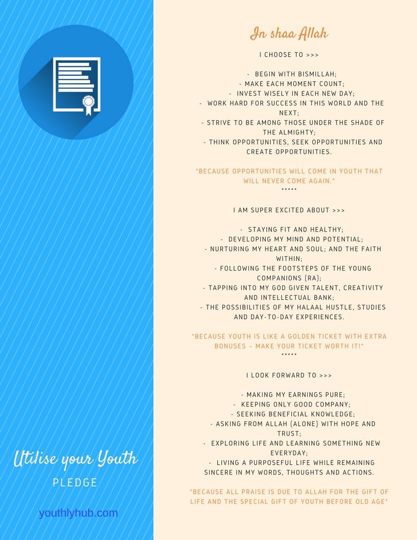 Utilise your youth Pledge card on Youthlyhub.com